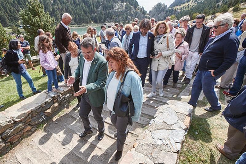 Foto 5: <p>El president de la Diputació de Girona assisteix a la festivitat de Sant Gil</p>