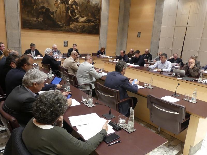 Foto 2 : L'àmbit social continua present al ple de la Diputació de Girona