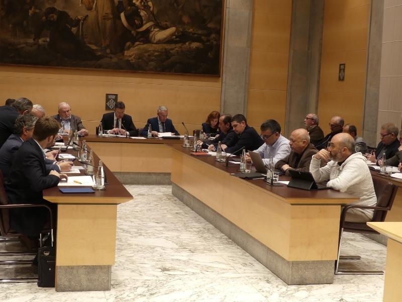 Foto 5: L'àmbit social continua present al ple de la Diputació de Girona