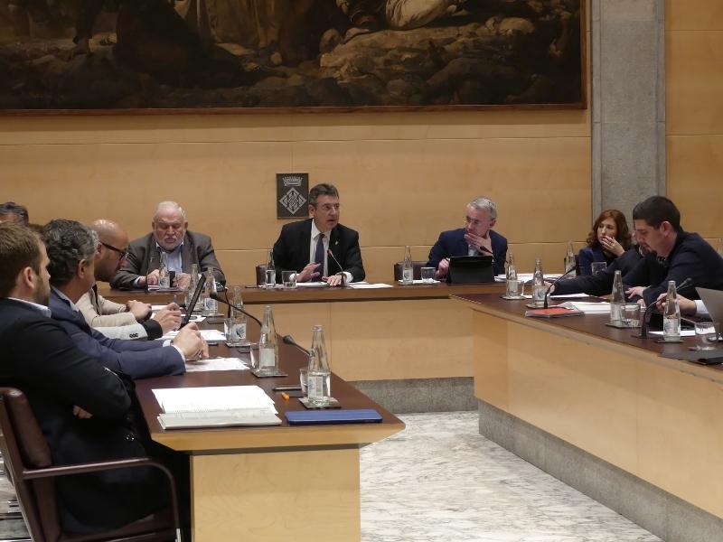Foto 1: L'àmbit social continua present al ple de la Diputació de Girona
