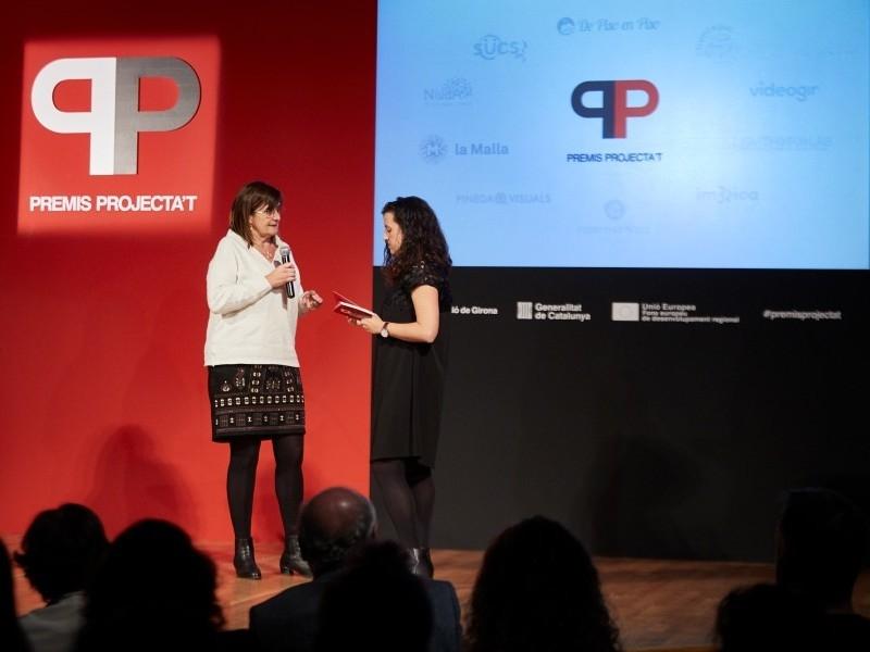 Foto 4: <p>Lliurament dels Premis Projecta&rsquo;t de la Diputaci&oacute; de Girona, formaci&oacute;, mentoria i tutoritzaci&oacute;, per a emprenedors de la demarcaci&oacute; de Girona</p>