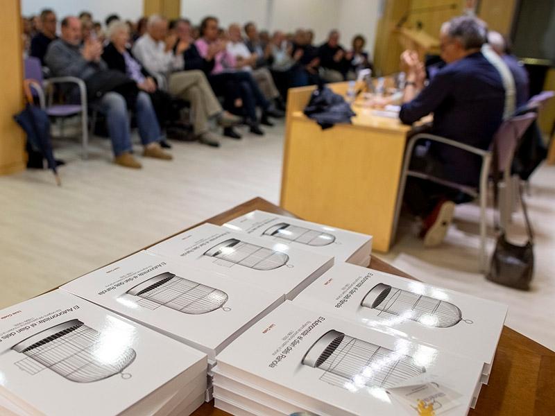 Foto 3 : Presentació de la reedició del llibre El Autonomista: el diari dels Rahola amb motiu del vuitantè aniversari de l'afusellament de Carles Rahola