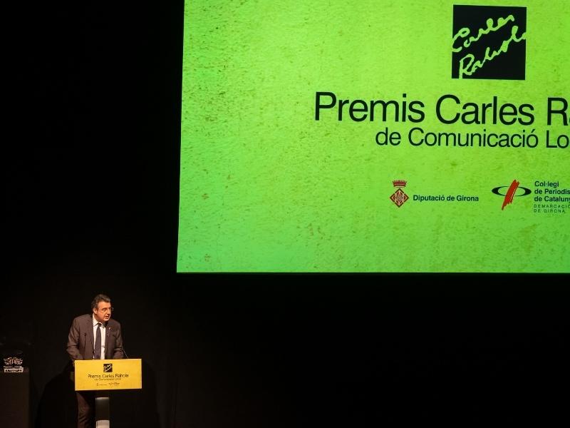 Foto 4: Lliurament dels X Premis Carles Rahola de Comunicació Local