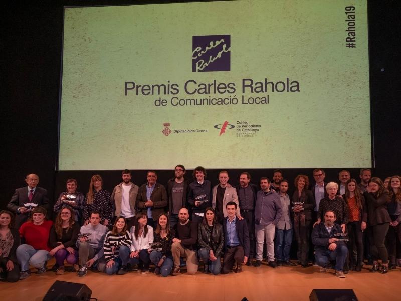 Foto 6: Lliurament dels X Premis Carles Rahola de Comunicació Local