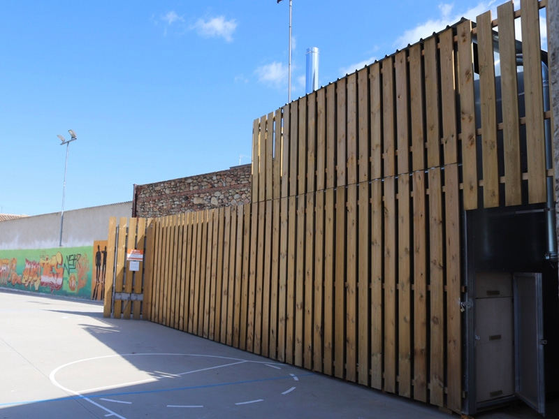 Foto 4: S'inaugura la caldera de biomassa de Vilobí d'Onyar<br>