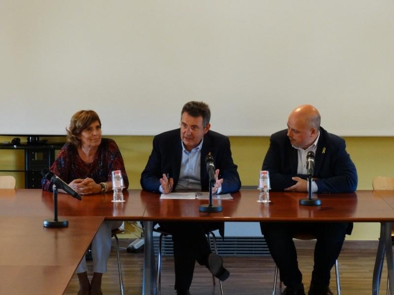 Foto 2 : El president de la Diputació es reuneix amb el Consell d'Alcaldes del Pla de l'Estany