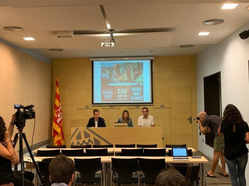 Foto : Presentació dels resultats de la 3a edició de la Sea Otter Europe Costa Brava - Girona Bike Show