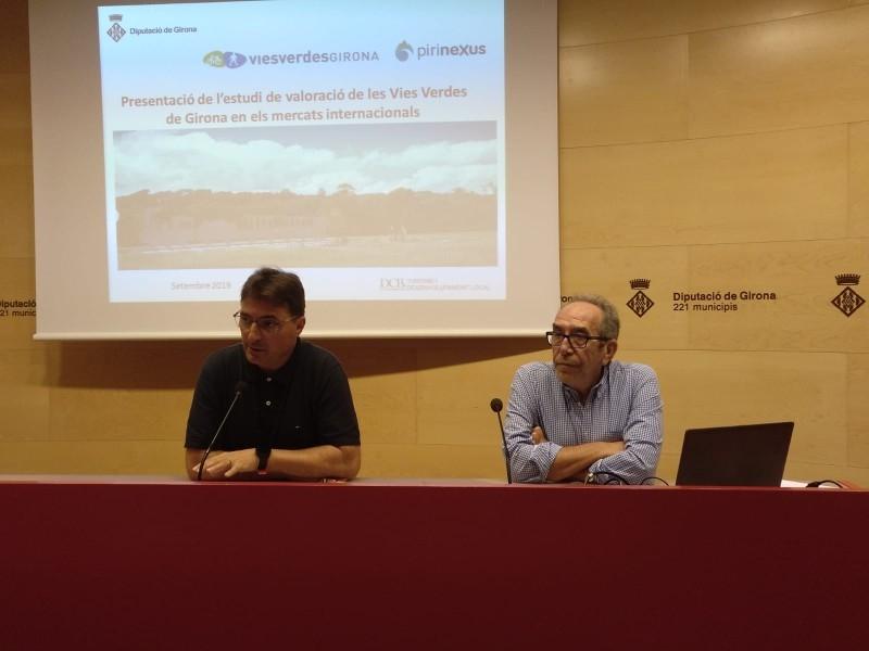 Foto 1 : El Consorci de les Vies Verdes de Girona presenta els resultats del seu estudi de valoració en els mercats internacionals<br>