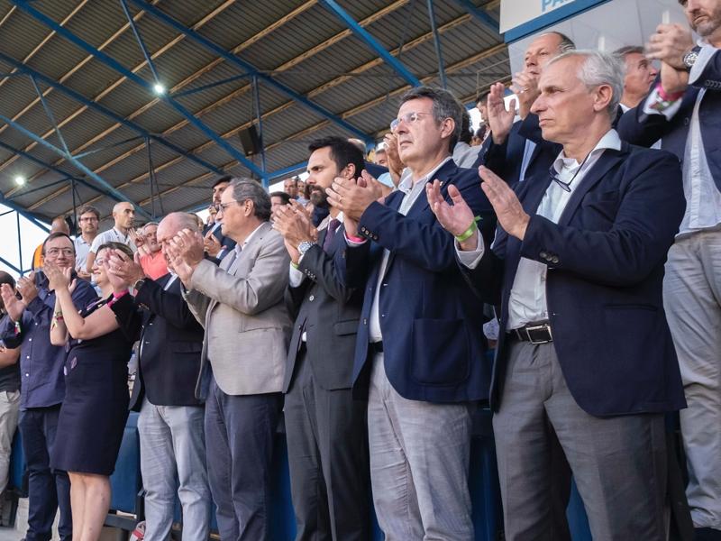 Foto 4: Miquel Noguer assisteix a la final de la Copa Catalunya Absoluta Femenina a Palamós