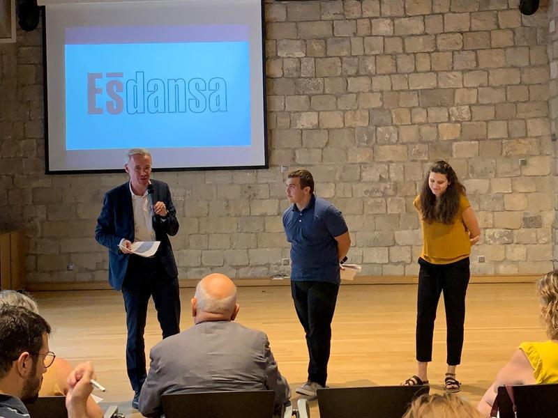 Foto : Albert Piñeira participa en la presentació de l'Ésdansa 2019