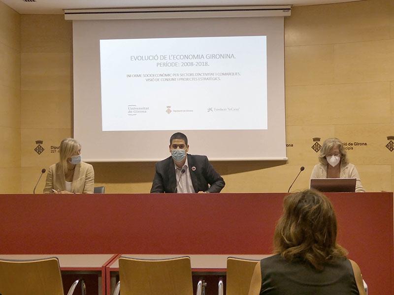 Foto : <p>Presentació de l'estudi sobre l'evolució de l'economia Gironina (2008-2018)</p>