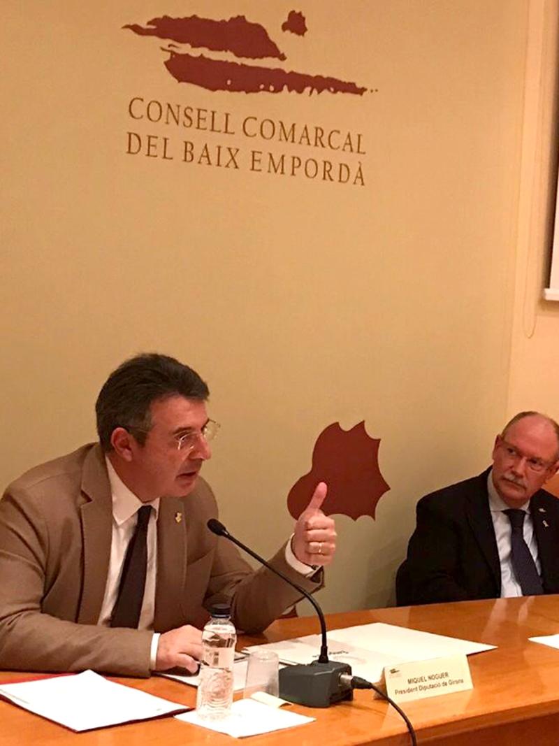 Foto 2 : <p>Miquel Noguer es reuneix amb el Consell d&rsquo;Alcaldies del Baix Empord&agrave;</p>