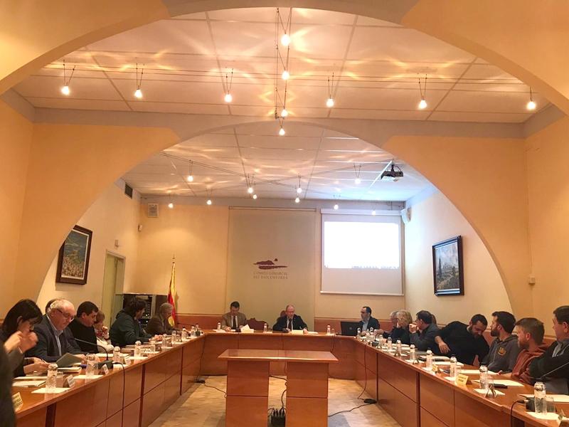 Foto 3 : <p>Miquel Noguer es reuneix amb el Consell d&rsquo;Alcaldies del Baix Empord&agrave;</p>