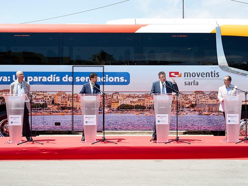 Foto : <p>Una flota de vint autobusos de Moventis promociona la Costa Brava dins del territori català</p>