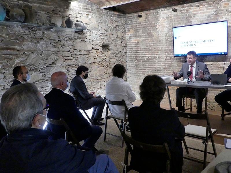 Foto : <p>El president de la Diputació de Girona participa en la inauguració del projecte formatiu de «Talent-art» per al curs 2020-2021</p>