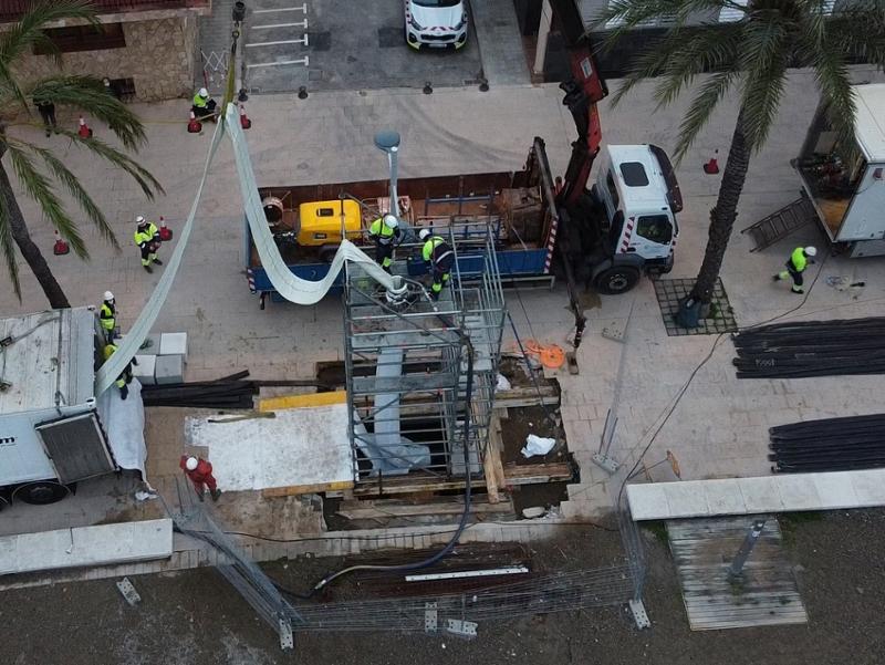 Foto : El Consorci de la Costa Brava repara dues canonades d'impulsió i restitució d'aigua residual a Llançà