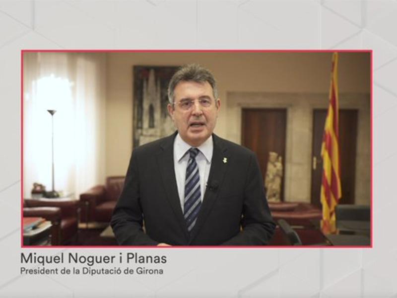 Foto : El president Miquel Noguer, en el lliurament dels Premis d'Arquitectura de les Comarques de Girona