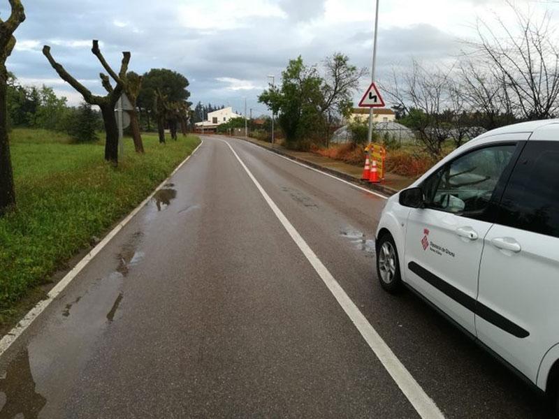 Foto : Les carreteres de la Diputació afectades per la pluja recuperen la normalitat