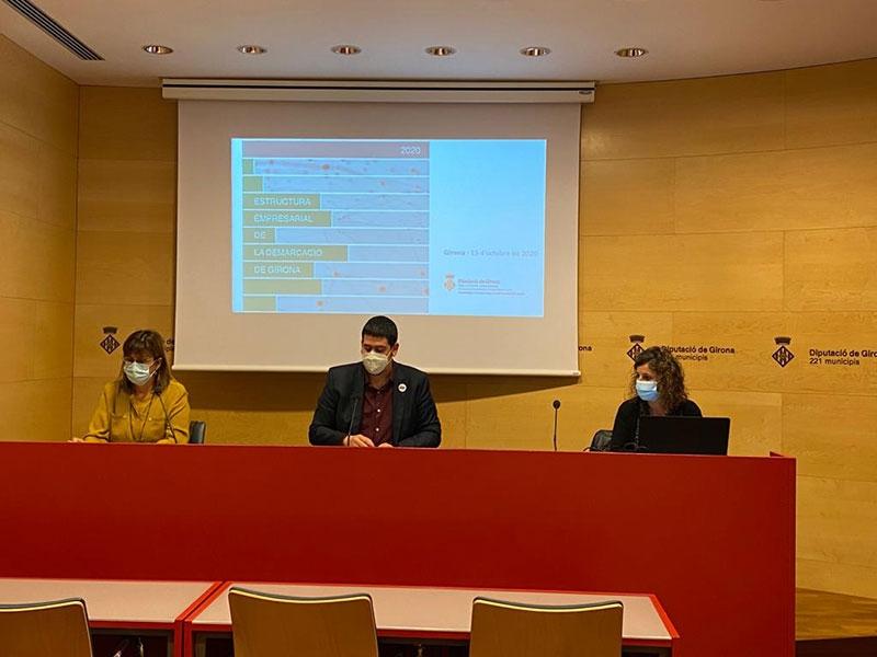 Foto : <p>Presentació de l'estudi «Estructura empresarial de la demarcació de Girona», en edició de 2020</p>