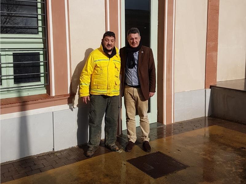 Foto : <p>El president, Miquel Noguer, i el vicepresident, Pau Presas, visiten diferents zones afectades pel temporal al territori</p>