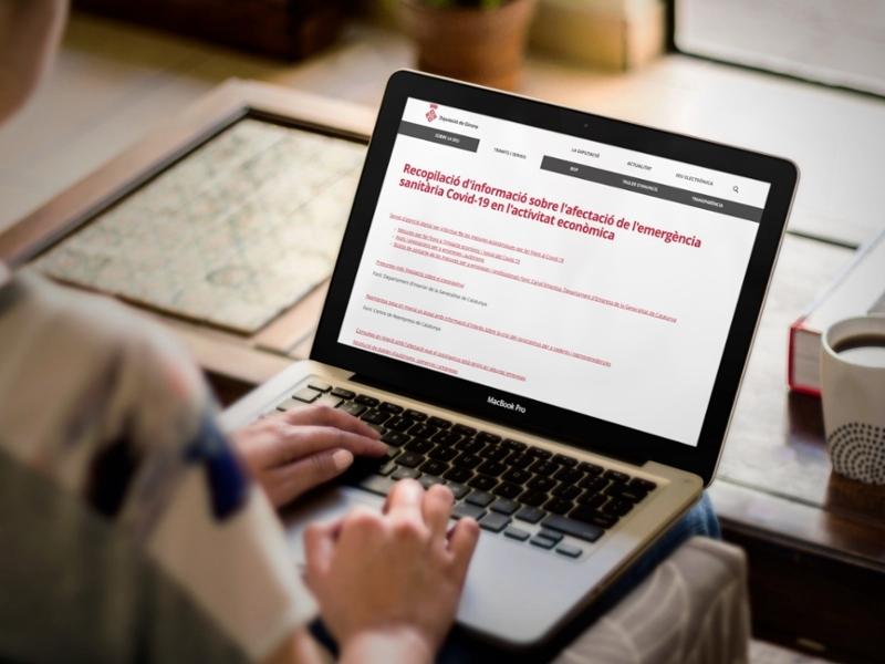 Foto : <p>Promoció Econòmica treballa en la redacció d'un pla de reactivació econòmica per als ajuntaments</p>