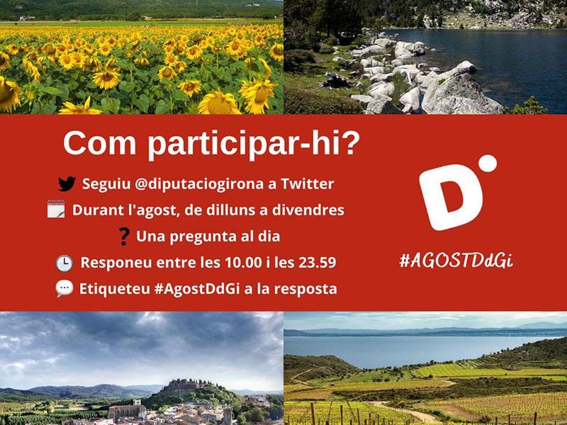 Foto : <p>La Diputació de Girona convoca el tercer concurs de Twitter #AgostDdGI</p>