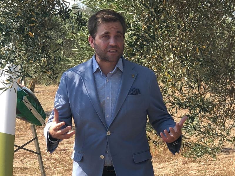 Foto : El diputat Jordi Camps, en la presentació de la campanya.