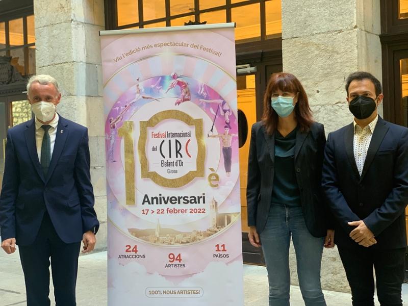 Foto : El vicepresident segon, Albert Piñeira, participa en la presentació del 10è aniversari del Festival del Circ