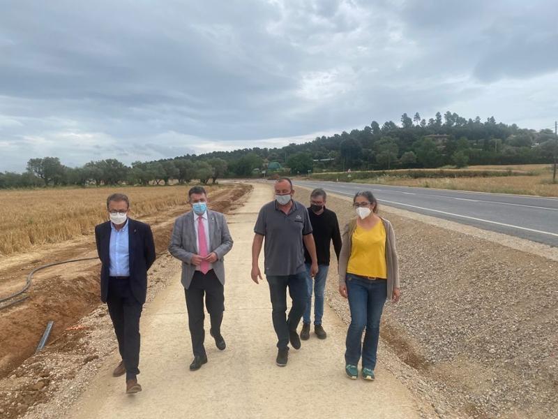 Foto : La Diputació millora la carretera de Madremanya, hi crea una via verda paral·lela i prepara la infraestructura per a