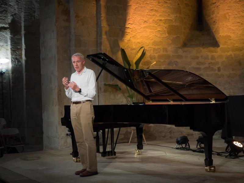Foto : El vicepresident de la Diputació de Girona, Albert Piñeira, a l'11è Festival de Música de Cervià de Ter