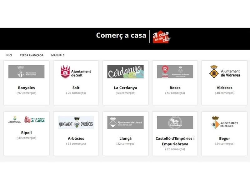 Foto : La plataforma de comerç en línia de la Diputació ja integra gairebé 600 establiments de les comarques gironines