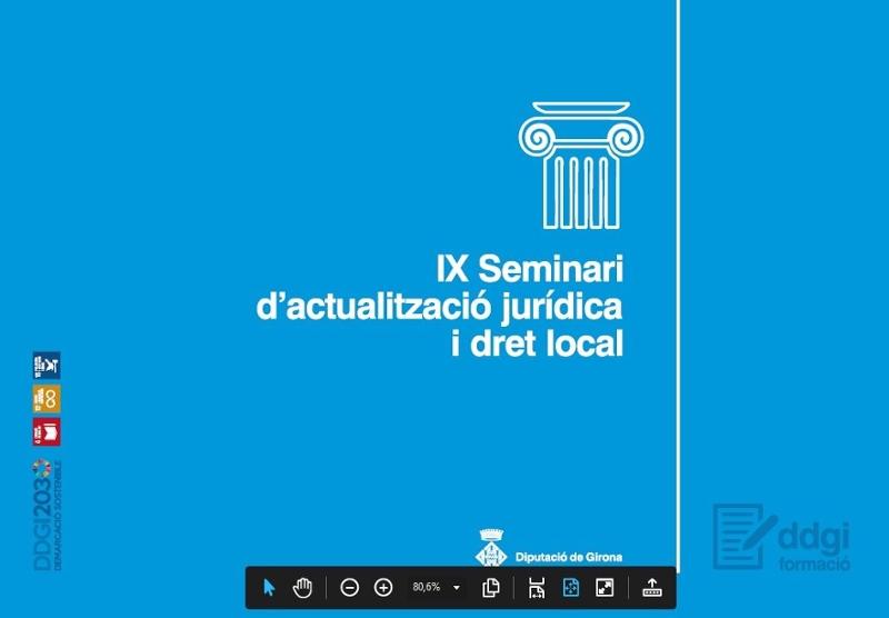 Foto : La cinquena sessió del IX Seminari d'actualització jurídica i dret local de la Diputació tracta sobre el teletreball<