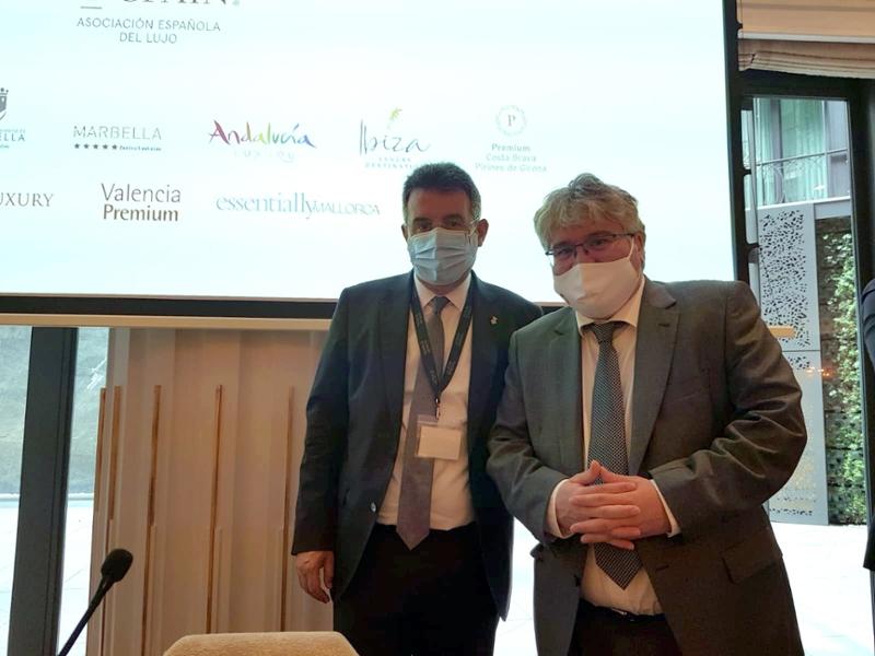 Foto : El president de la Diputació, Miquel Noguer, participa a la presentació de l'associació Luxury Spain, a Madrid