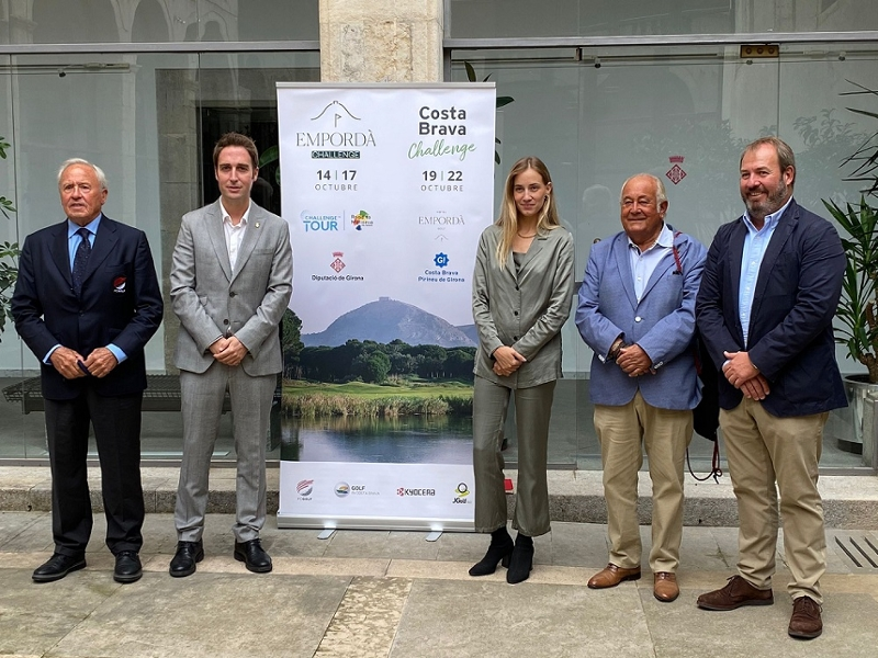 Foto : El diputat d'Esports, Jordi Masquef, a la presentació dels dos últims torneigs del Challenge Tour europeu