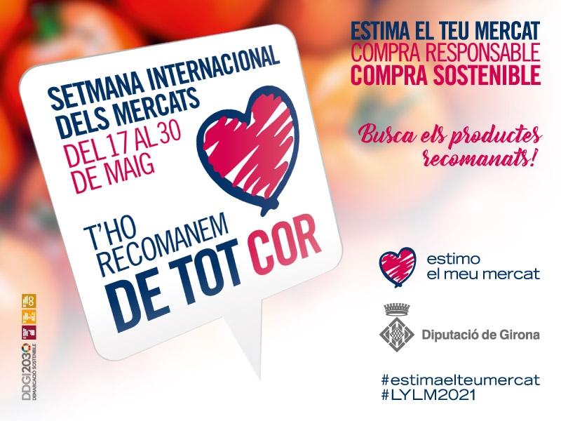 Foto : Els nou mercats de la Xarxa de Mercats Sedentaris de Girona et recomanen productes amb el cor