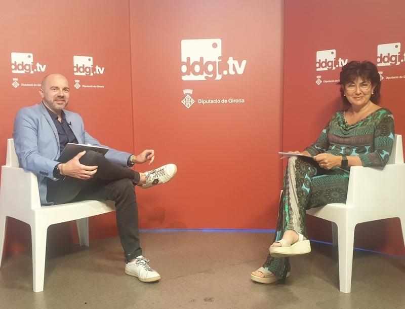 Foto : El programa Ddgi.tv presenta el Servei de Programes Europeus de la Diputació de Girona