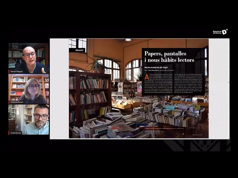 Foto : Revista de Girona: «El llibre de paper i el digital poden coexistir encara molt de temps»
