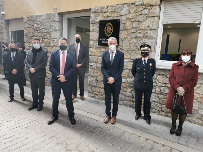 Foto : El president de la Diputació de Girona, en la inauguració de la nova seu de la Policia Local de Puigcerdà