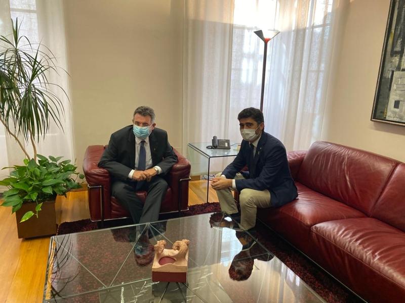Foto : El president Miquel Noguer es reuneix amb el vicepresident del Govern i conseller de Polítiques Digitals i Territori,