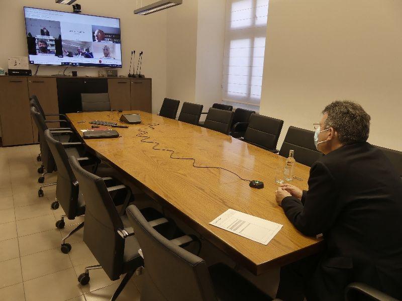 Foto : La Taula de treball de la COVID-19 de la Diputació de Girona es reuneix per analitzar les últimes dades de la pandèmi