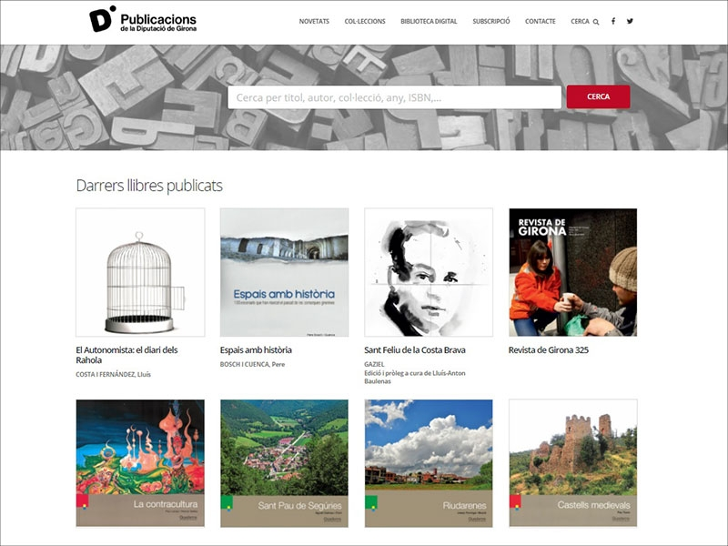 Foto : La Diputació de Girona estrena una nova web de publicacions corporatives i hi incorpora els quaderns digitalitzats</p