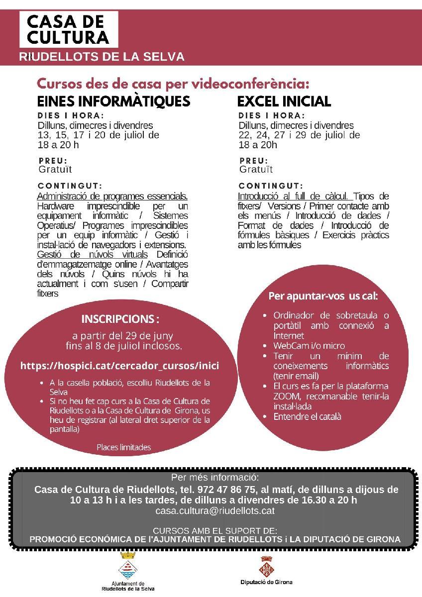 EINES INFORMÀTIQUES ( 8 hores) / curs en línia