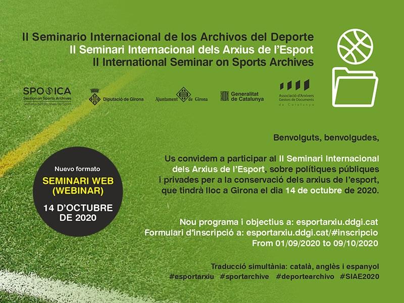 Foto : El II Seminari Internacional dels Arxius de l'Esport es farà telemàticament